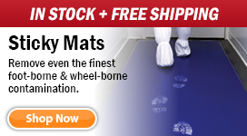 Free Shipping on all In Stock Cleanroom Sticky Mats